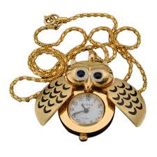 golden silver owl pendant necklace chain quartz pocket watch us 3 63 sold out