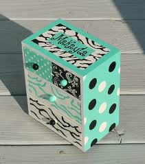 Teen Jewelry Box Awesome Gifts For Teen Girls Jewelry Box In Handmade Turquoise Zebra Etsy