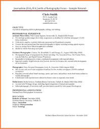 6 Photography Resume Templates Statement Synonym
