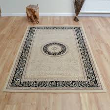 noble art rugs   in cream black  free uk delivery  the