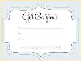 Create Your Own Gift Certificate Template Free Make Vouchers