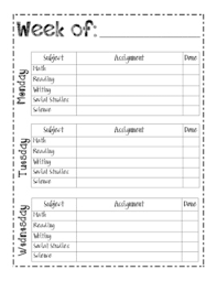 Planner Printables For Students Student Planner Sheets