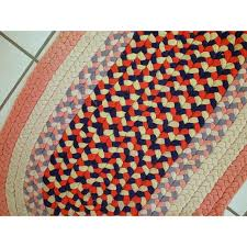 handmade vintage american braided rug 1930s vintage design furniture previous