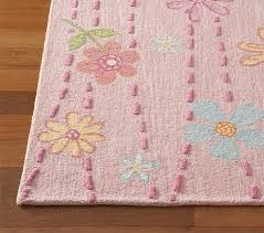 pottery barn kids daisy garden rug pink wool 8 x 10 new retail 799 00