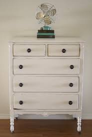 chalk painted bedroom furnitureShabby White Dresser With Chalk Paint