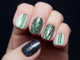 What's green, glittered, and glowing all over? | Chalkboard Nails ...