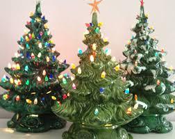 Retro Ceramic Tabletop Christmas Trees  LTD CommoditiesCeramic Tabletop Christmas Tree With Lights
