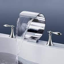 roman waterfall garden tub faucet