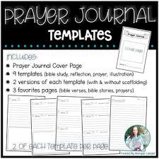 Journal Templates Prayer Journal Templates