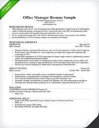 Sample Office Administrator Resume Office Manager Resume Sample