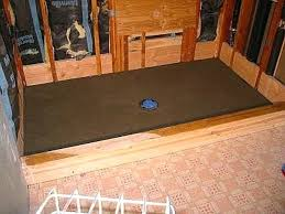 making a shower pan on concrete slab installing shower pan drain concrete floor installing tile shower