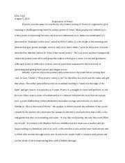 essay poem explication adan vasconcelos professor lourdes  4 pages essay explication of poetry enc1102