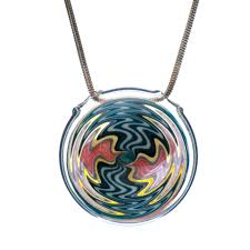 hand blown glass hollow wig wag pendant 1