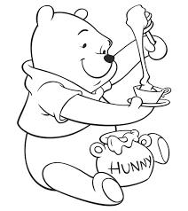 Tranh tô màu gấu pooh vô cùng đáng yêu - Jadiny