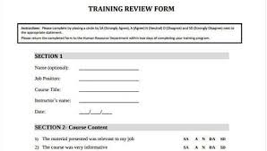 Sample Training Review Forms 7 Free Documents In Word Pdf