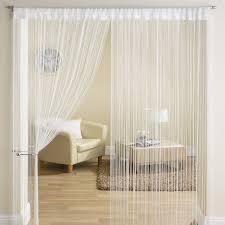 classic string fringe panel divider window door curtain 90x200cm white new