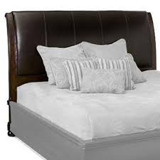 upholstered leather sleigh bed. Bernhardt Belmont King-Size Leather Upholstered Sleigh Headboard Bed E