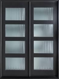modern front double doors. Mahogany Wood Veneer Solid Front Entry Door - Double Modern Doors