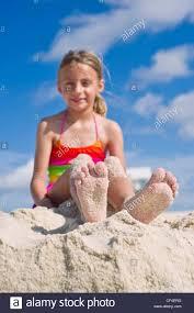 Beach teen soles and barefeet