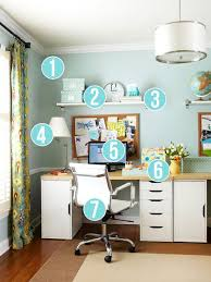 home office wall shelves.  Home Get This Look  7 Tips For Easy Home Office Organization Via  Remodelaholiccom And Wall Shelves
