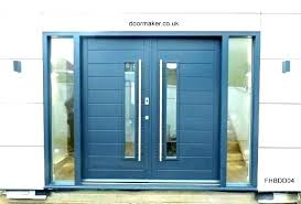 contemporary double entry doors modern glass