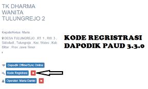 Aplikasi dapodik versi 3.3.0 ke bawah memiliki perubahan kode registrasi paud menjadi kode registrasi sepanjang 36 karakter. Cara Mendapatkan Kode Regristrasi Dapodik Paud 3 3 0 Ngintip Sekolah