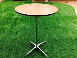 cocktail round table 30 inch x 4 feet high