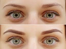 шотирование бровей фото до и после заживления техника