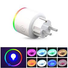 ac100-250v 16a eu thống kê điện rgb Đèn chiếu sáng thông minh wifi Ổ cắm  điện thoại di động hẹn giờ chuyển đổi ổ cắm Cần bán - Banggood.com