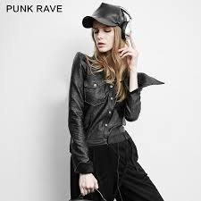 china py 158 punk plus size skinny shrink leather fashion jacket las blouses china punk blouses plus size blouses