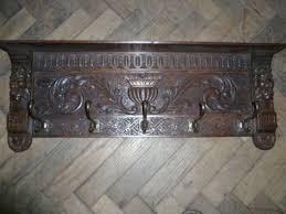 Antique Oak Coat Rack