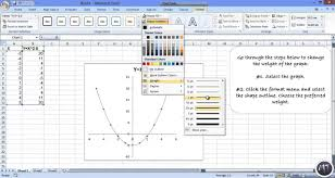 how to graph on excel how to graph quadratic equations with excel youtube