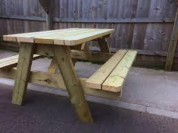 heavy duty swedish redwood a frame picnic table