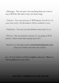 bts worldwide book message fan project