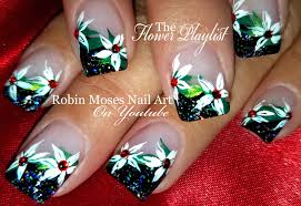 Robin Moses Nail Art: Beautiful Christmas Nails! Red Poinsettias ...