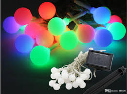 outdoor lighting balls. Solar String Light Round Colorful 20 LED Frosted Small Ball Lamp Energy Deco Garden Decoration Lights Outdoor Decor Lighting Balls N