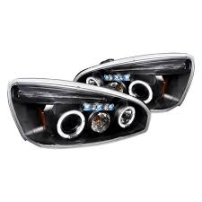 2008 Chevy Malibu Halo Lights Junyan 04 08 Chevy Malibu Halo Projector Headlights Black