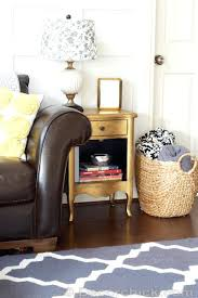 painted furniture makeover gold metallic. Gold Metallic Table Furniture Makeover Painted Side Silver Y