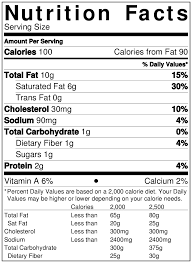 Cheese Nutrition Chart Nutrition Facts Bagel Grove