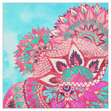Bohemian Patterns Cool Bohemian Fabric Zazzle
