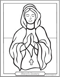A fee coloring page of each mystery of the rosary. 40 Rosary Coloring Pages Joyful Sorrowful And Glorious Mysteries