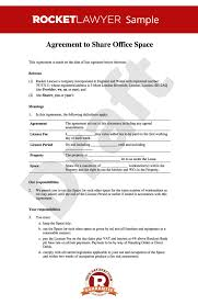 Office Rental Agreement Template Office Sharing Agreement Template Office Sharing Agreement