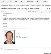 resume job application jobseeker attaches picture of nicolas cage instead of cv on