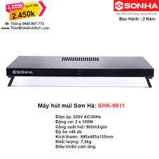 Máy Hút Mùi Sơn Hà SHK-9811 - Tổng Kho Sơn Hà Hà Nội