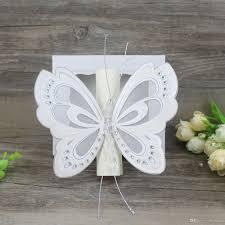 Scroll Birthday Invitations Scroll Wedding Invitation Card Elegant White Pink Butterfly Kids