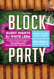 Block Party Flyers Templates Block Party Flyer Psd Template