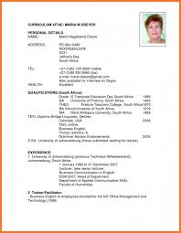 cv template word francais south african curriculum vitae cv example template word in africa