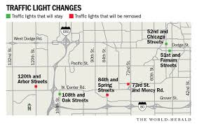 city s plan to remove traffic lights including one on busy 120th street raises some concerns omaha metro omaha