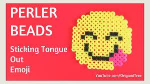 Emoji Perler Bead Patterns Custom DIY Perler Beads Emoji Tutorial EASY Smile With Tongue Sticking