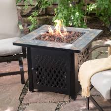 gas patio table. endless summer slate mosaic propane fire pit table with free cover | hayneedle gas patio m